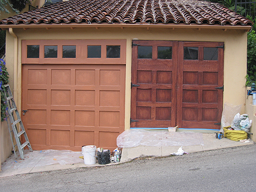 Faux Garage Doors Full